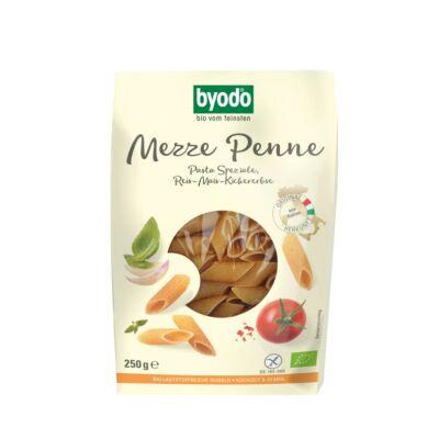 Byodo Bio Penne, rizs-kukorica-csicseriborsó tészta  - gluténmentes 250g