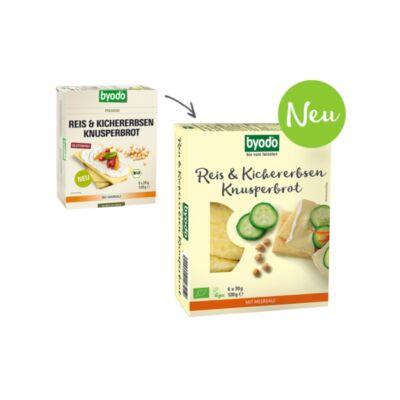 Byodo Bio csicseriborsó és rizs kenyérlapok 120g