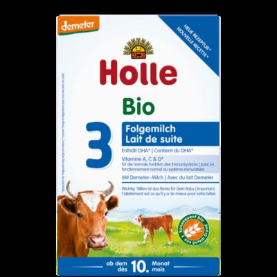 Holle Bio 3 tejalapú csecsemő tápszer