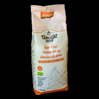 Bio teljes kiőrlésű rizs liszt