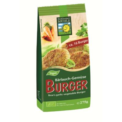 Zöldség- medvehagyma burger keverék