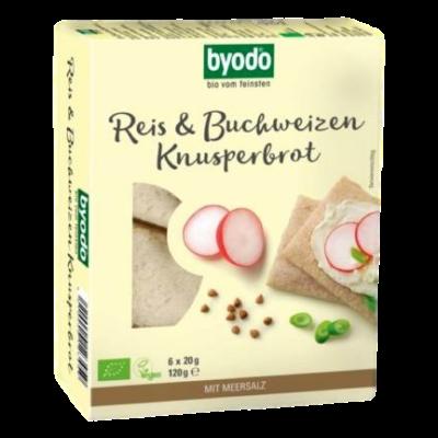 Byodo Bio hajdina és rizs kenyérlapok 120g