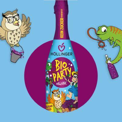 Höllinger Bio Party pezsgő piros szőlőlé 0,75l
