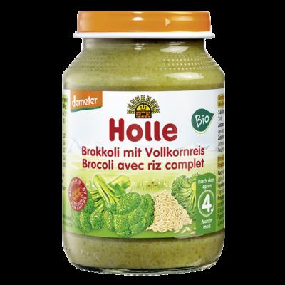 Bébiétel brokkoli teljes rizzsel