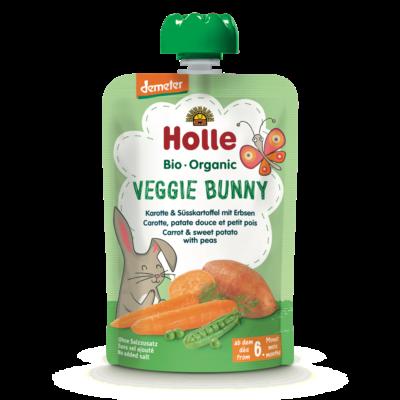 Holle Bio Veggie Bunny - Tasak sárgarépa és édesburgonya borsóval 100g