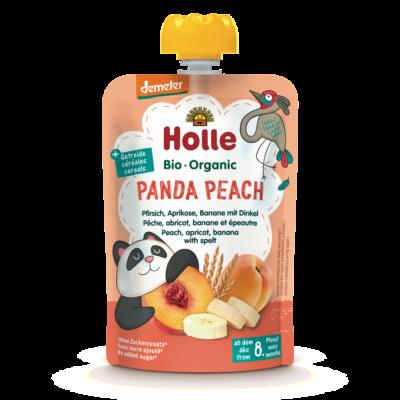 Holle Bio Panda Peach - Tasak őszibarack, sárgabarack, banán, tönkölybúza 100g