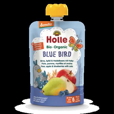 Holle Bio Blue Bird - Tasak körte, alma és áfonya zabbal 100g