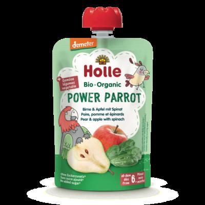 Holle Bio Power Parrot - Tasak körte almával és spenóttal 100g