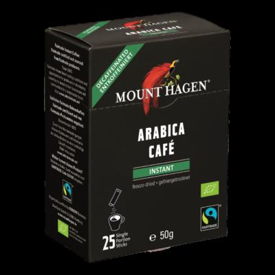 Mount Hagen Bio Koffeinmenetes instant kávé adagok 25 x 2g
