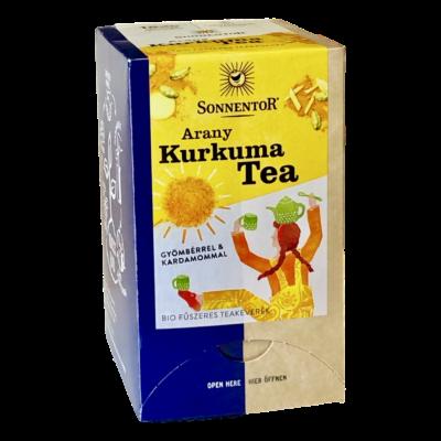Sonnentor Bio Arany Kurkuma teakeverék - filteres 36g